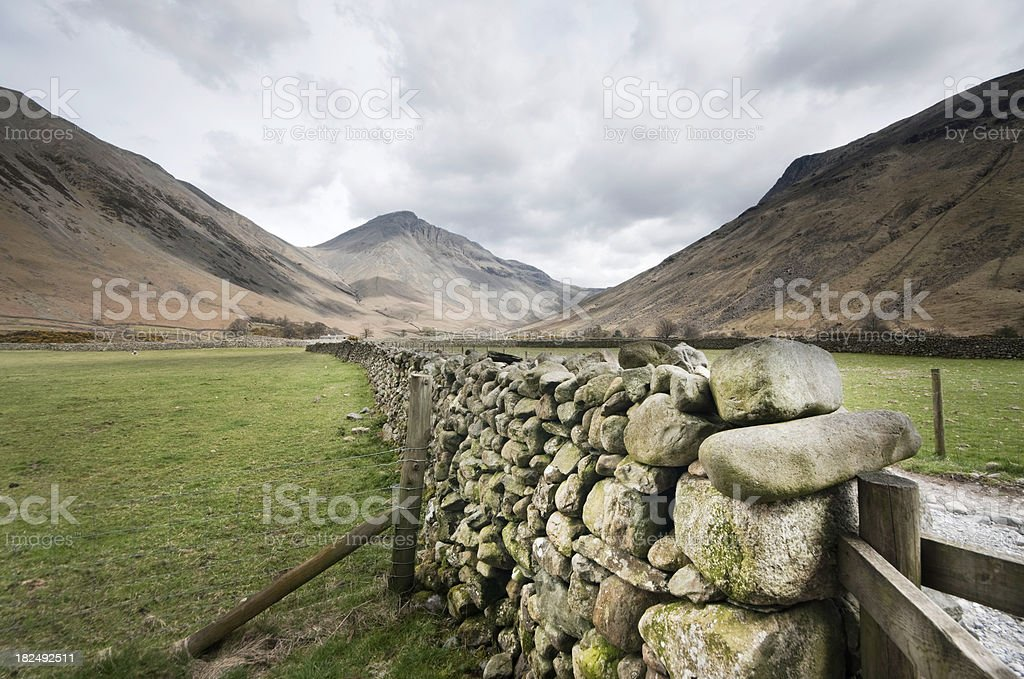 Drystone Wall At Wasdale Head stock photo