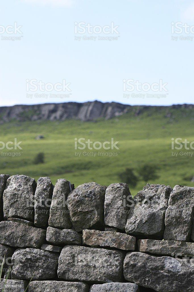 Drystone Wall - Stanage Edge, UK stock photo