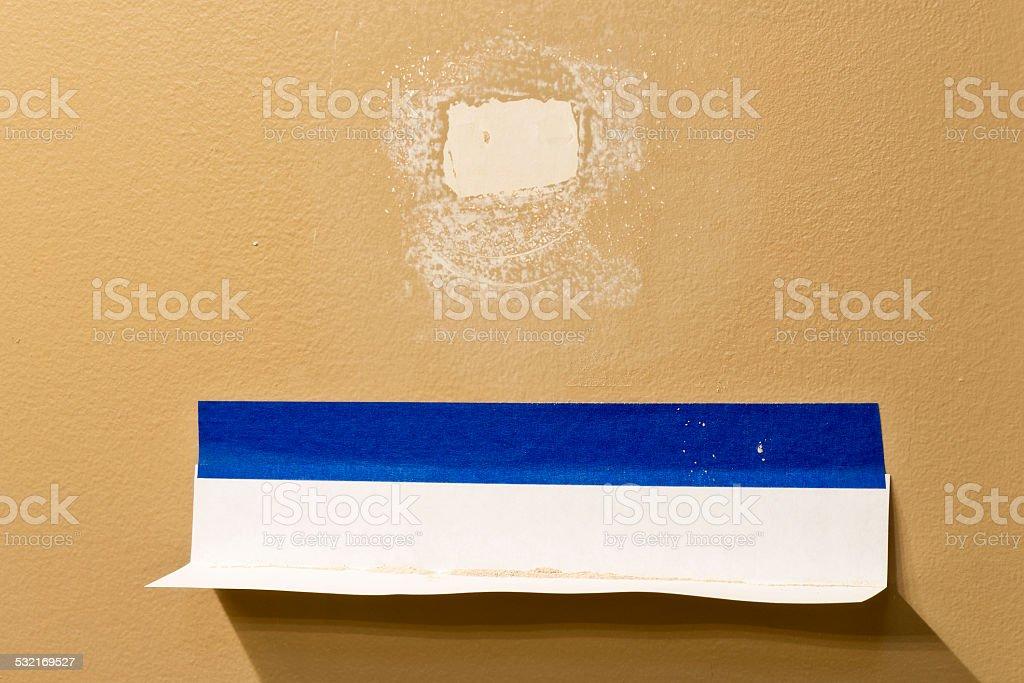 Drywall Dust Catcher stock photo