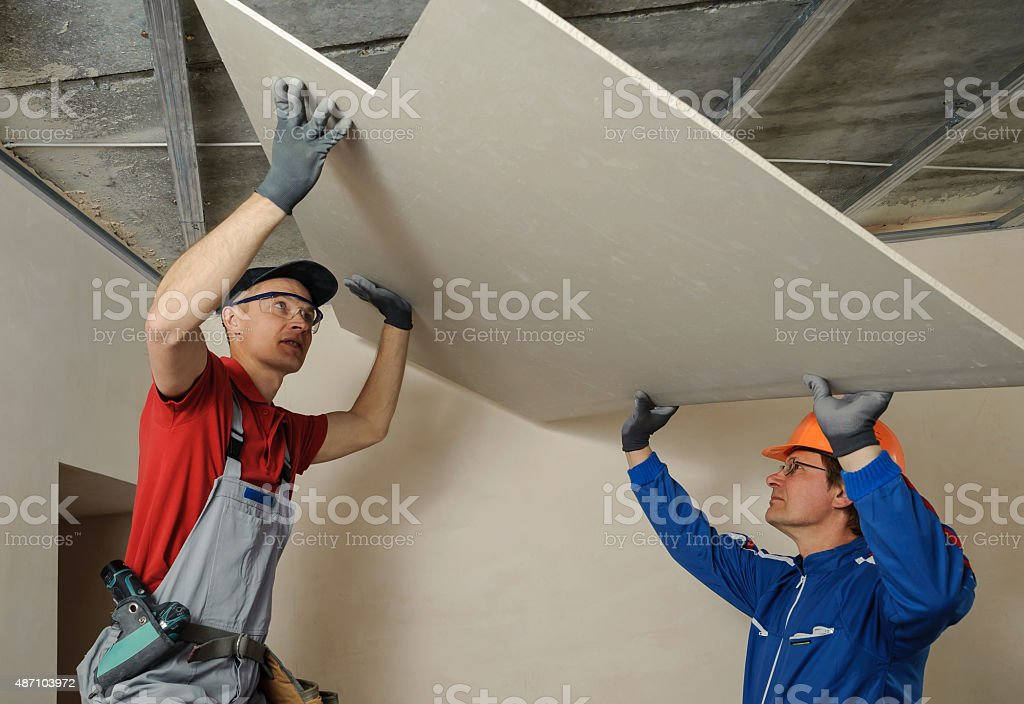 Drywall Installers stock photo