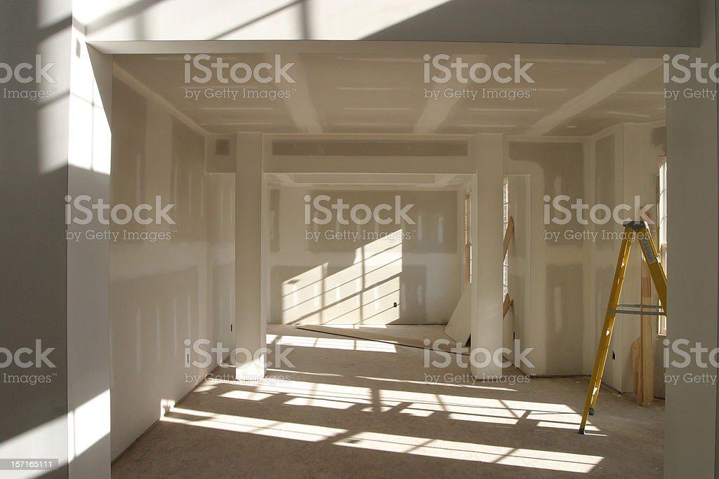 Drywall Room royalty-free stock photo