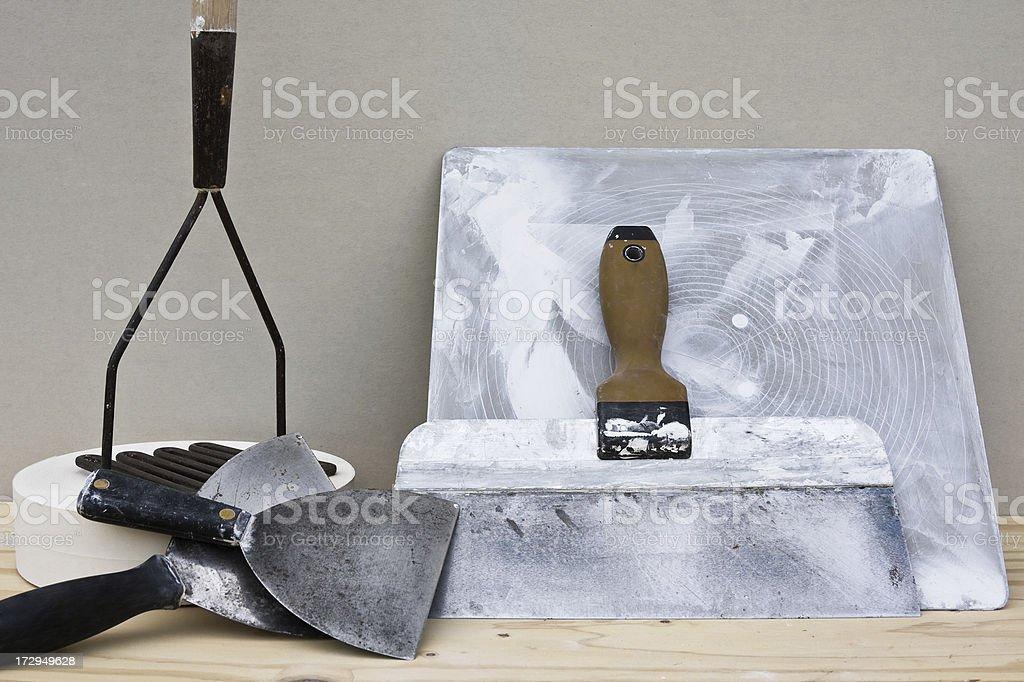 Drywall Tools royalty-free stock photo