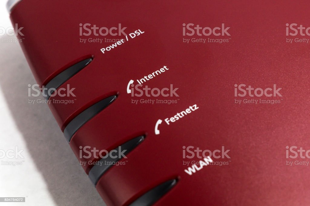 dsl router or modem stock photo