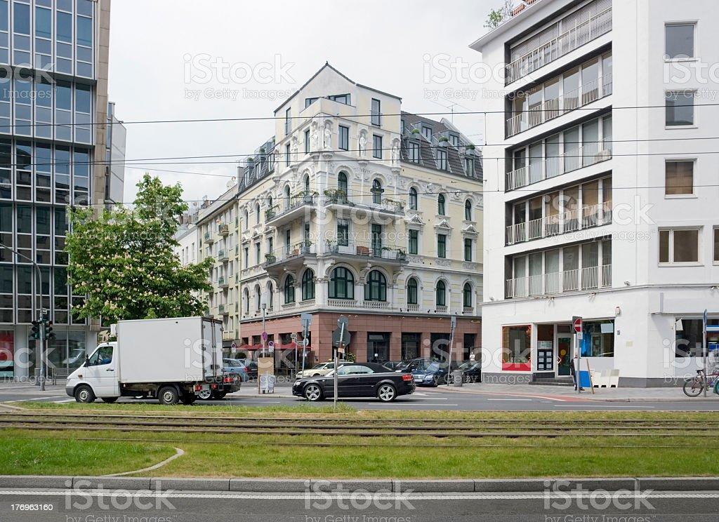 Düsseldorf city view royalty-free stock photo