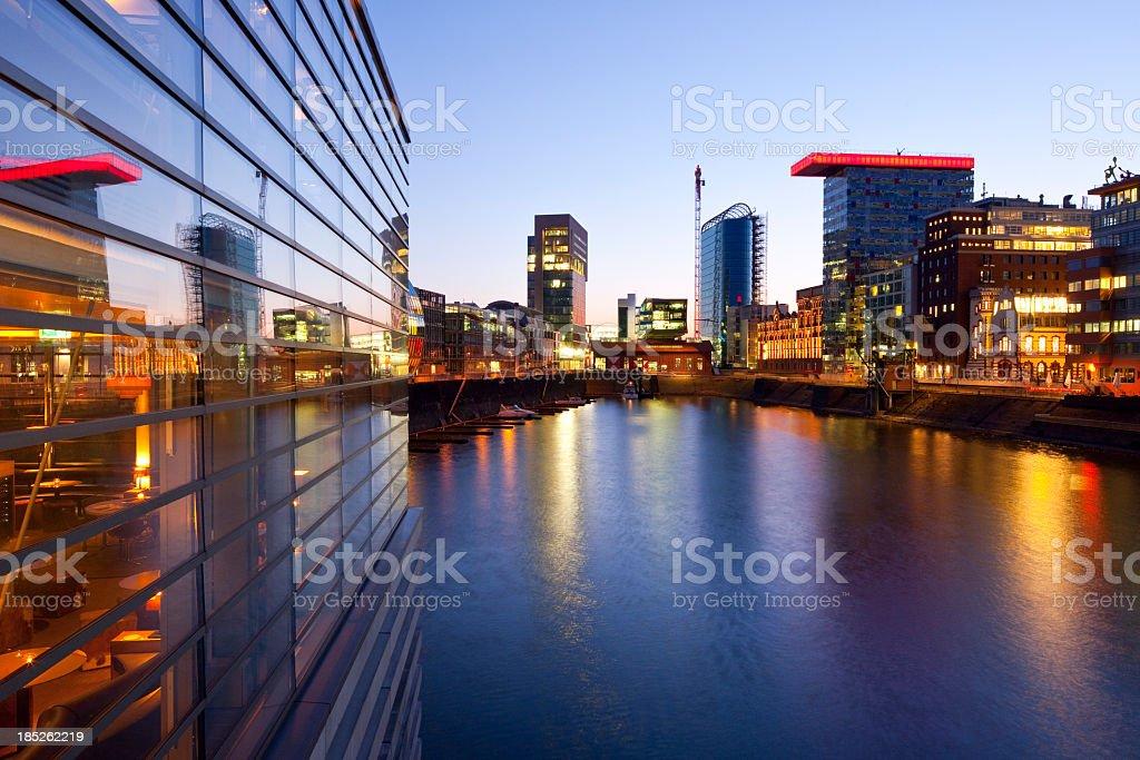 Düsseldorf harbor stock photo