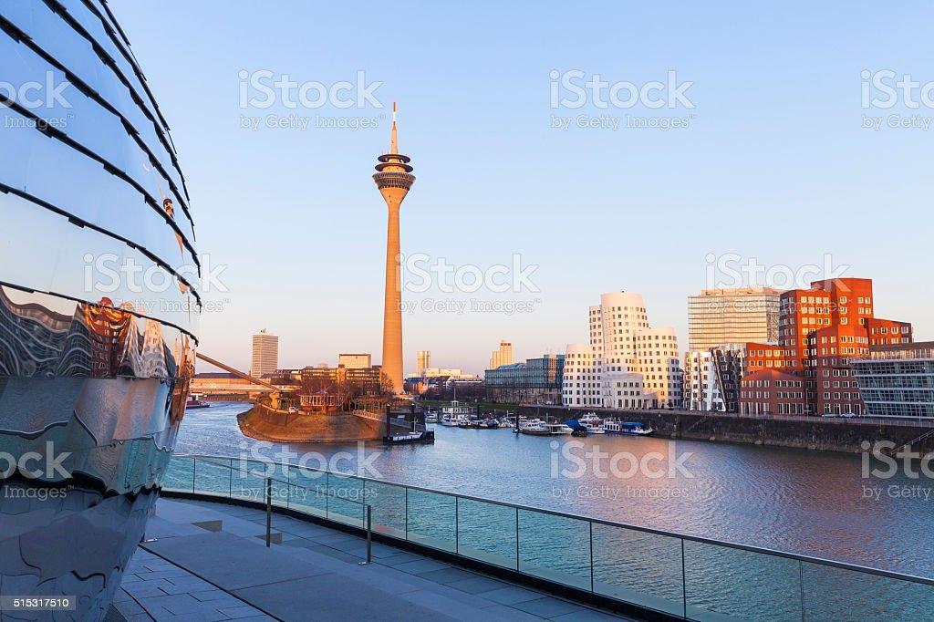 Düsseldorf Media Harbor, Germany stock photo