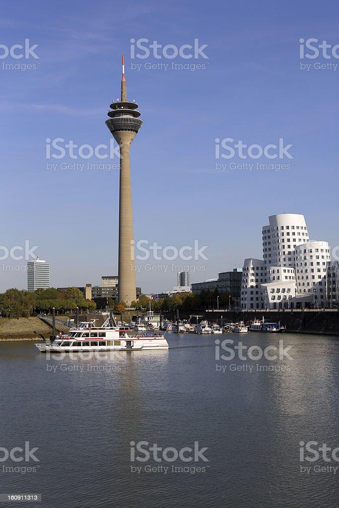 D?sseldorf media harbor skyline stock photo