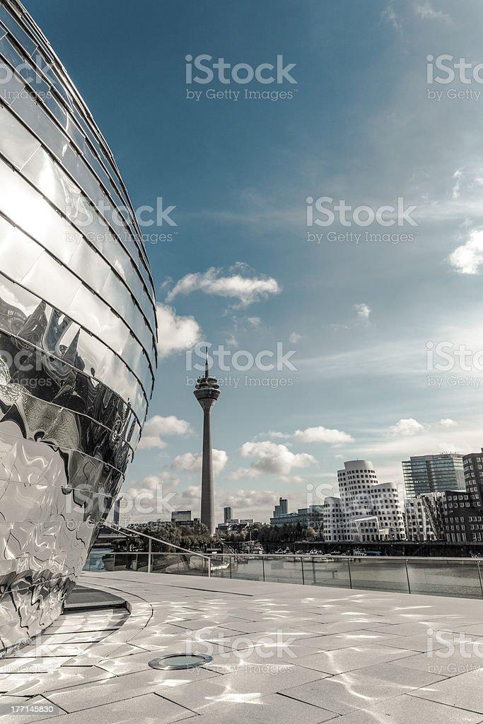 Düsseldorf Medienhafen stock photo