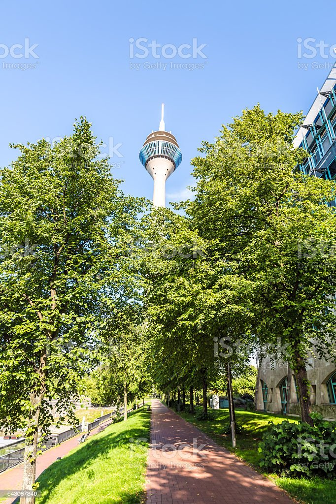 Düsseldorf with Tower close to the government stock photo