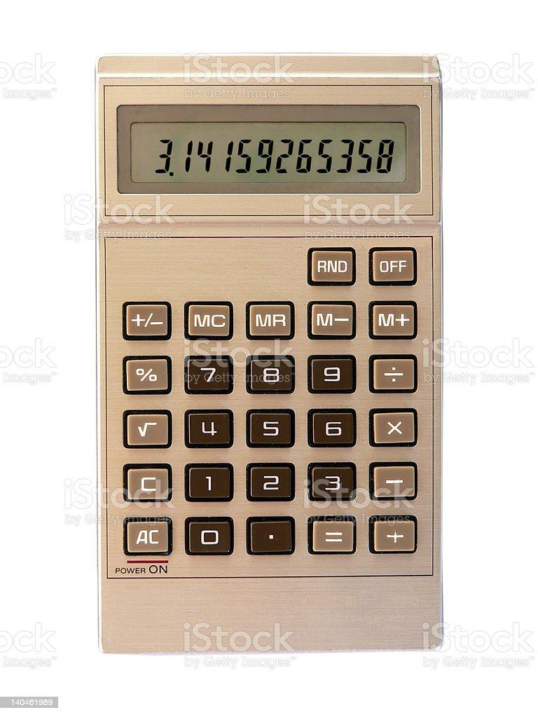 détourage d'une calculatrice royalty-free stock photo