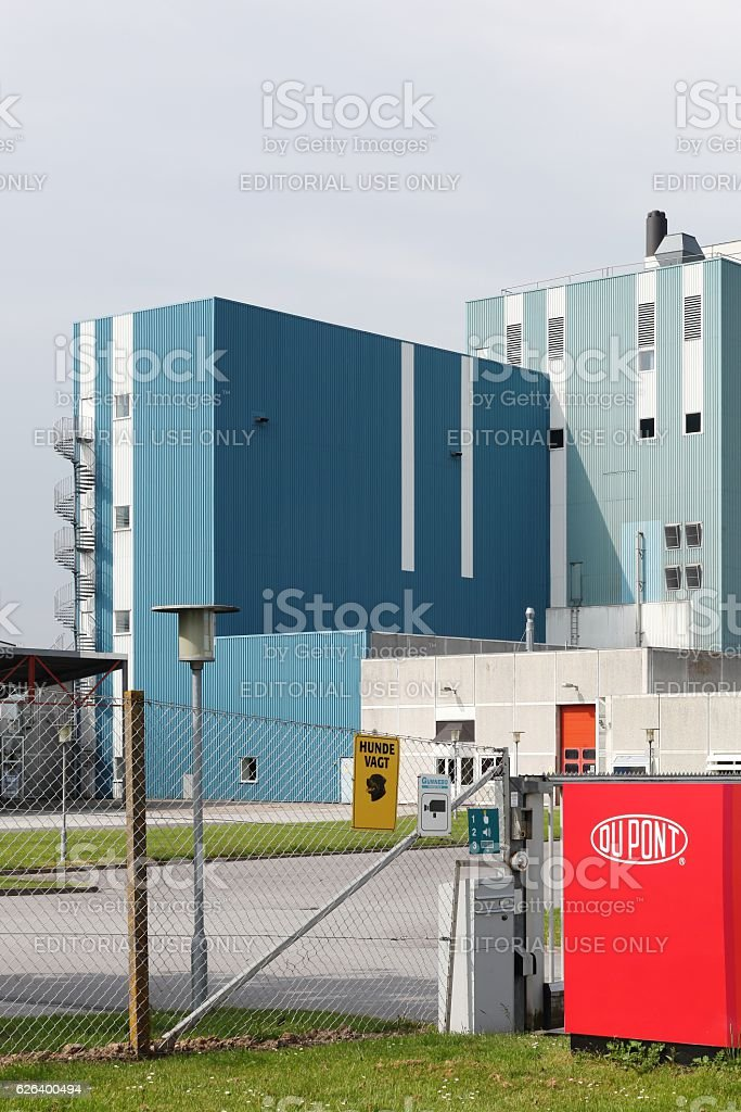 Du Pont nutrition biosciences factory in Denmark stock photo