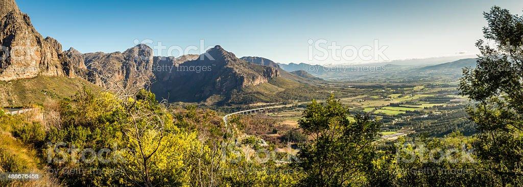 Du Toit's Pass Panorama stock photo