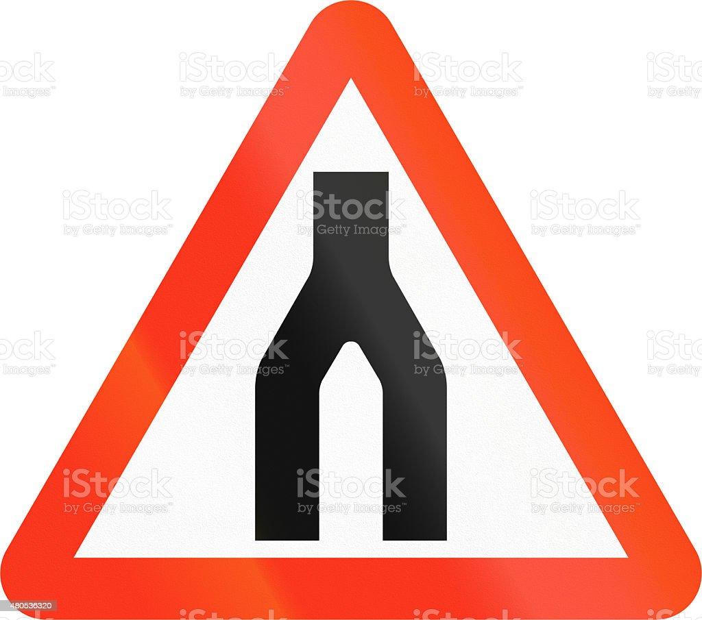 Dual Carriageway Ends In Bangladesh stock photo