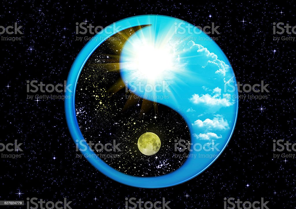 Dual Concepts Of Yin And Yang stock photo