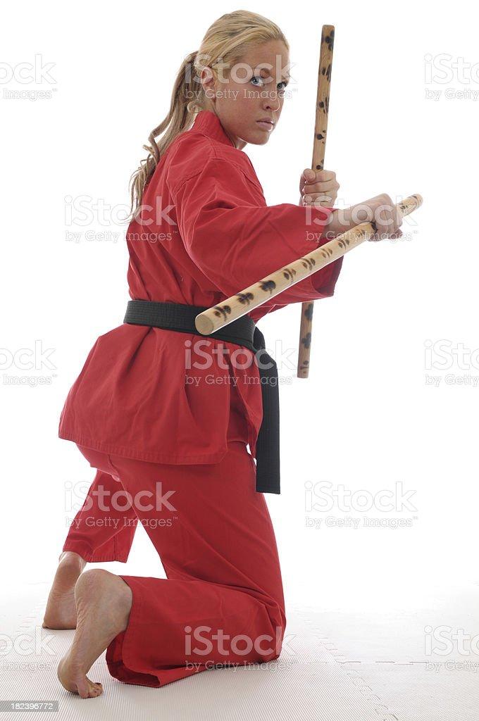 Dual escrima sticks royalty-free stock photo