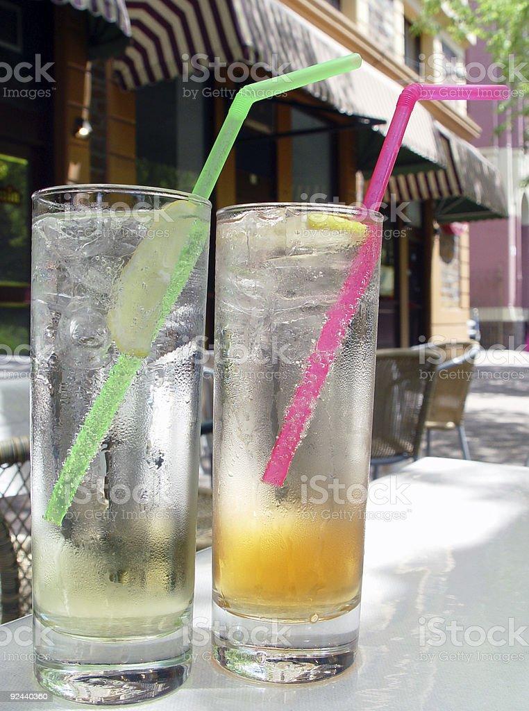 Dual refreshments royalty-free stock photo