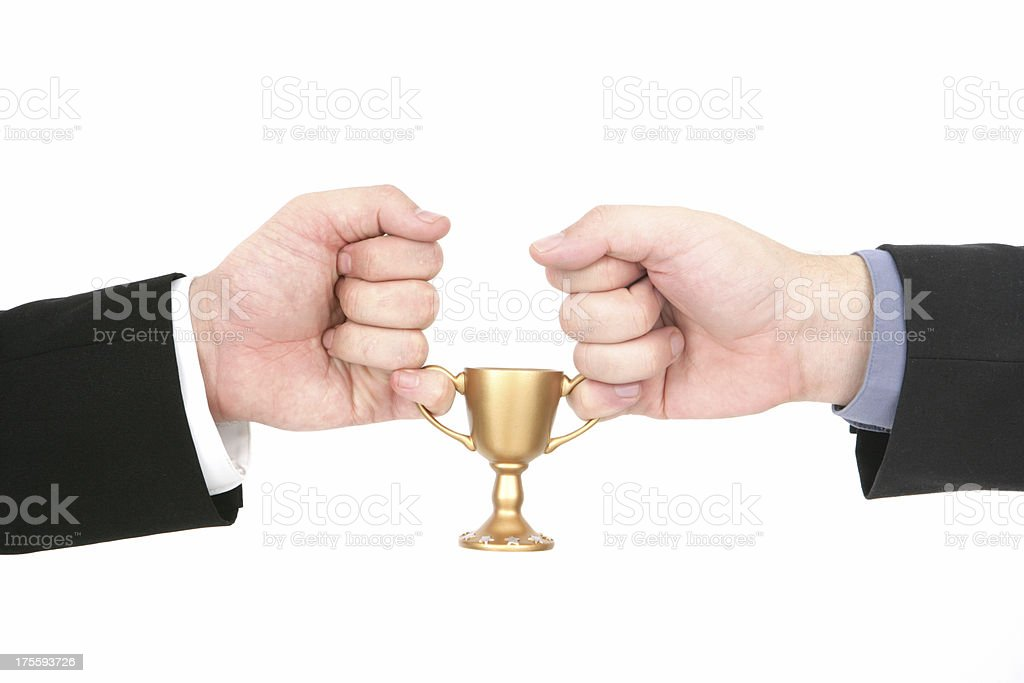 Dual Victory royalty-free stock photo
