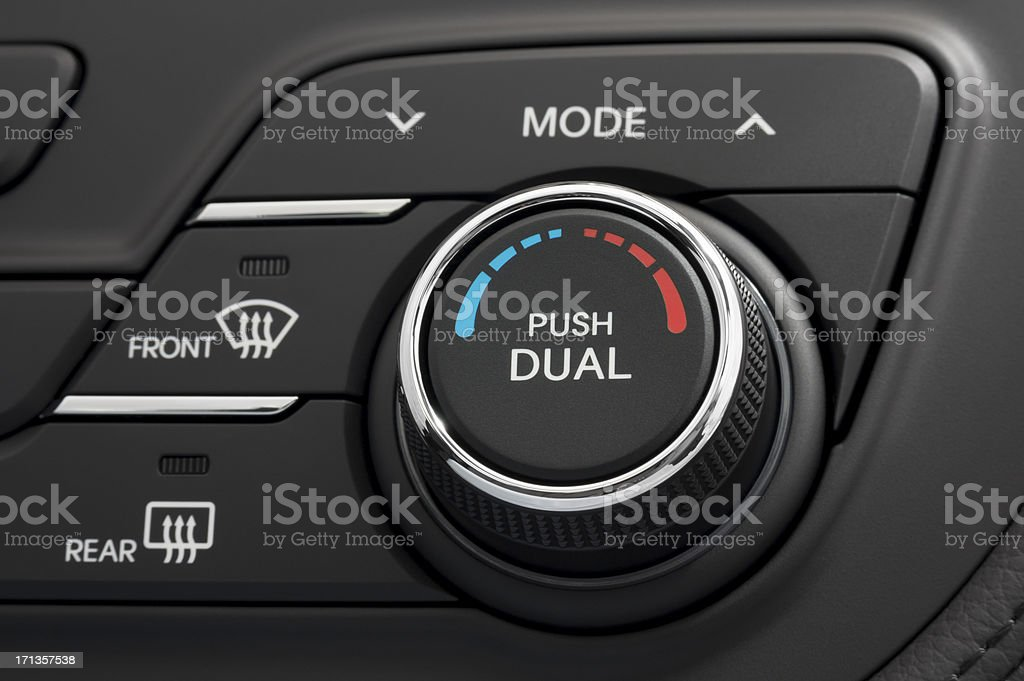 Dual Zone Automatic Climate Control royalty-free stock photo