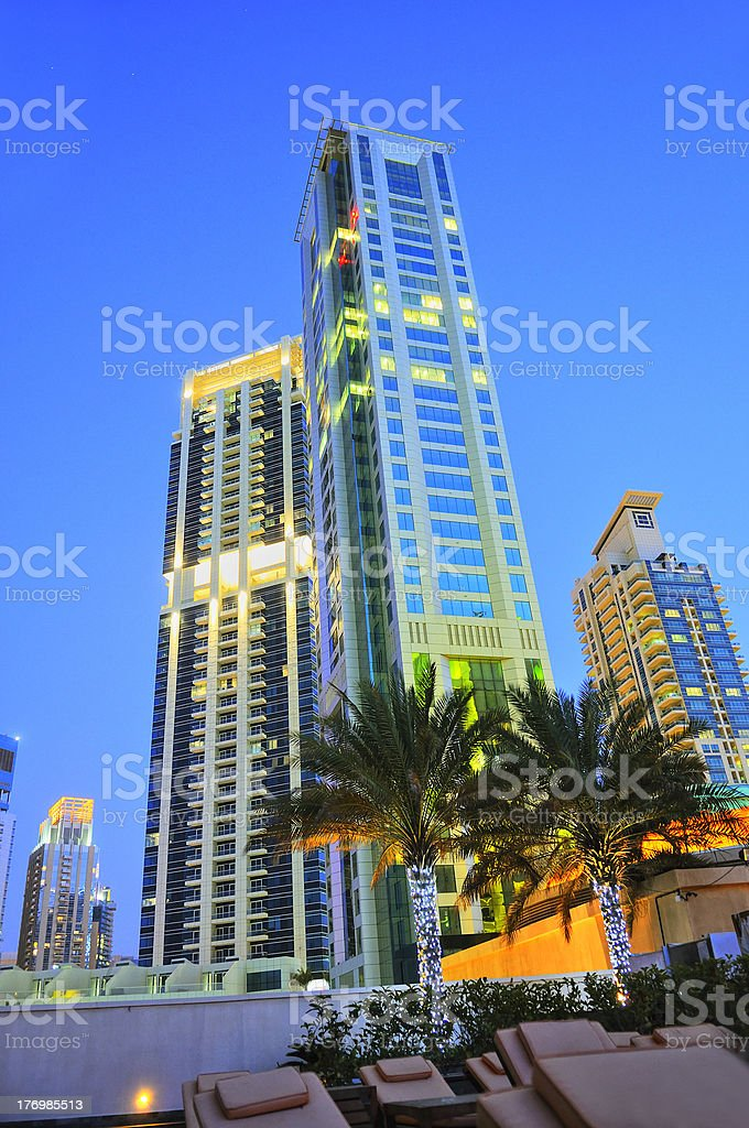 Dubaï by night royalty-free stock photo