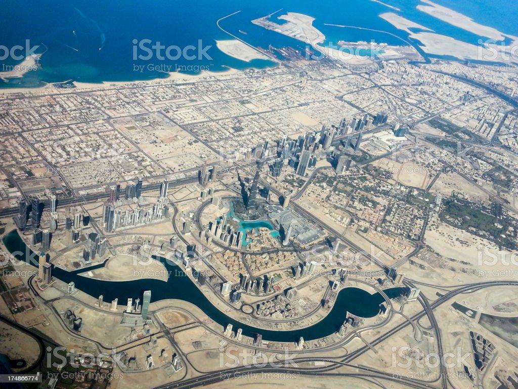 Dubai aerial royalty-free stock photo