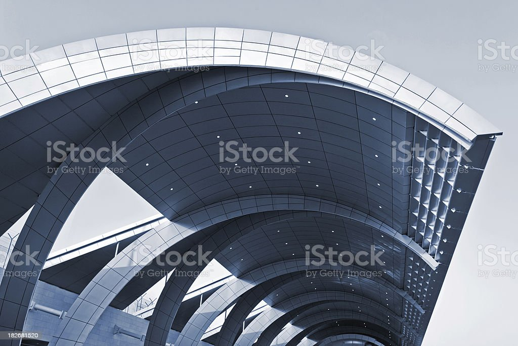 Dubai Airport Architecture stock photo