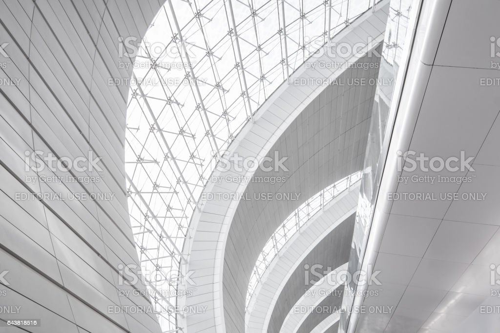 Dubai Airport Modern Architecture Abstract stock photo