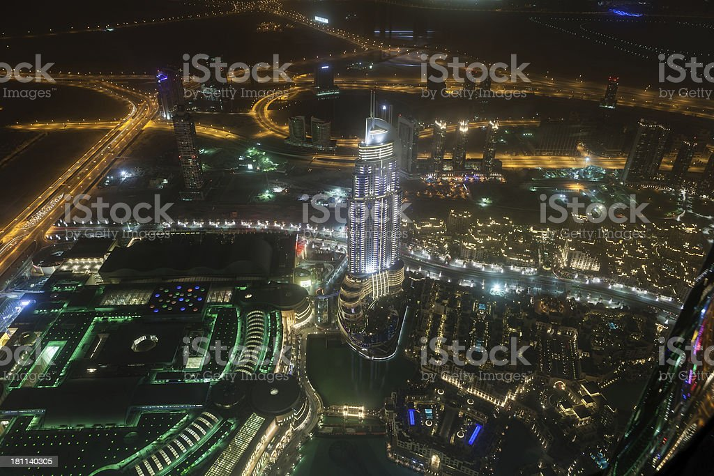 Dubai at night royalty-free stock photo