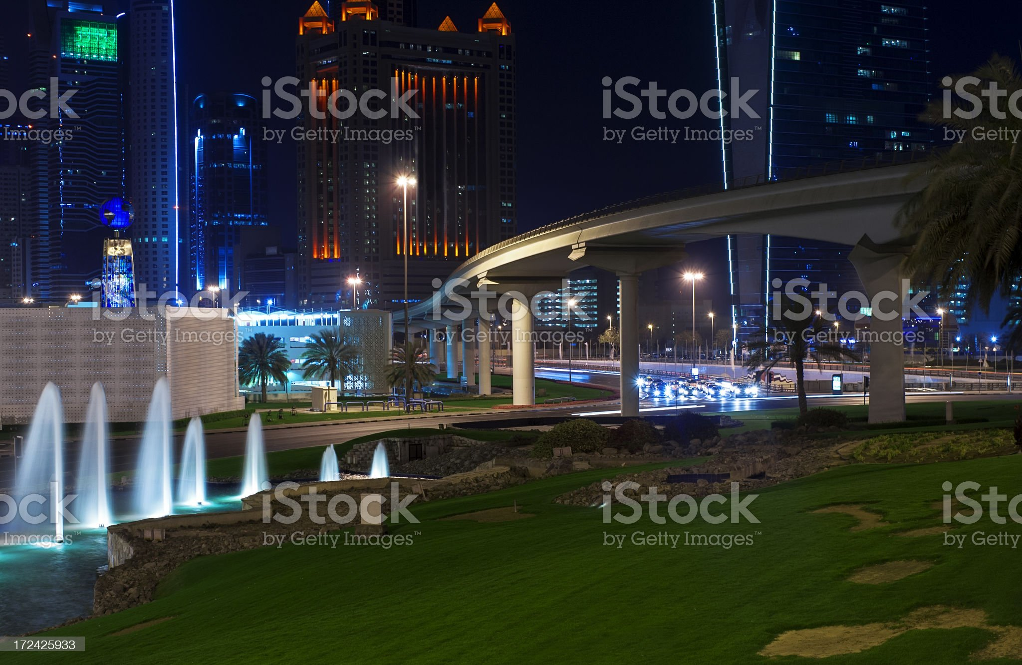 Dubai at night. UAE royalty-free stock photo