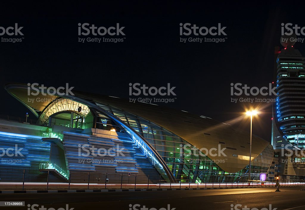 Dubai at night. UAE stock photo