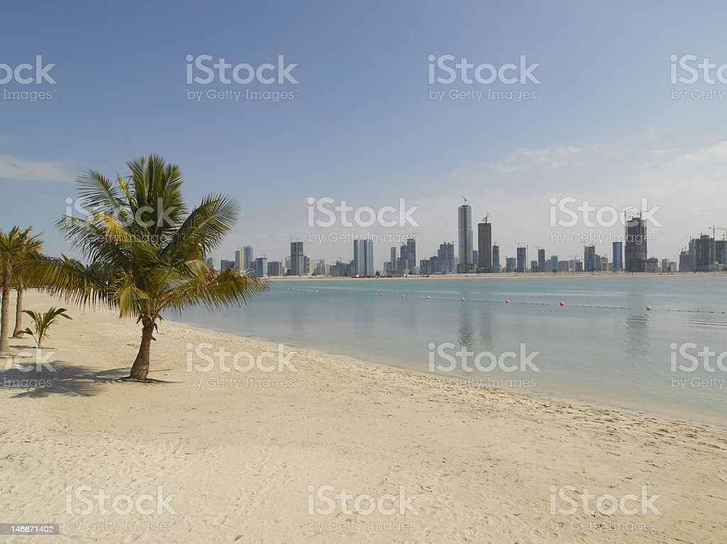 Dubai Beach royalty-free stock photo