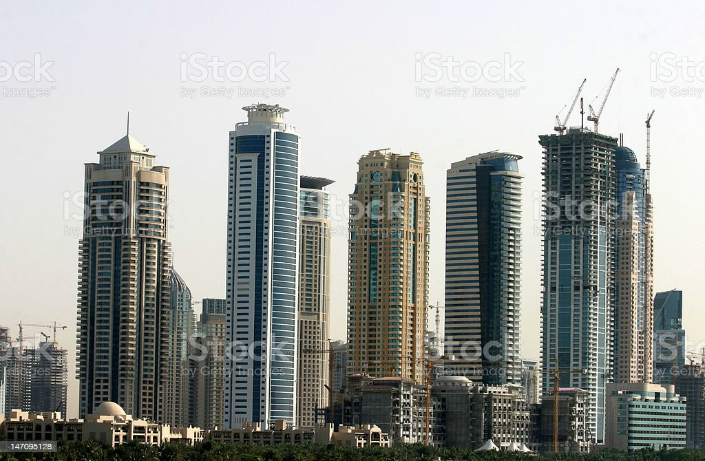 dubai buildings royalty-free stock photo