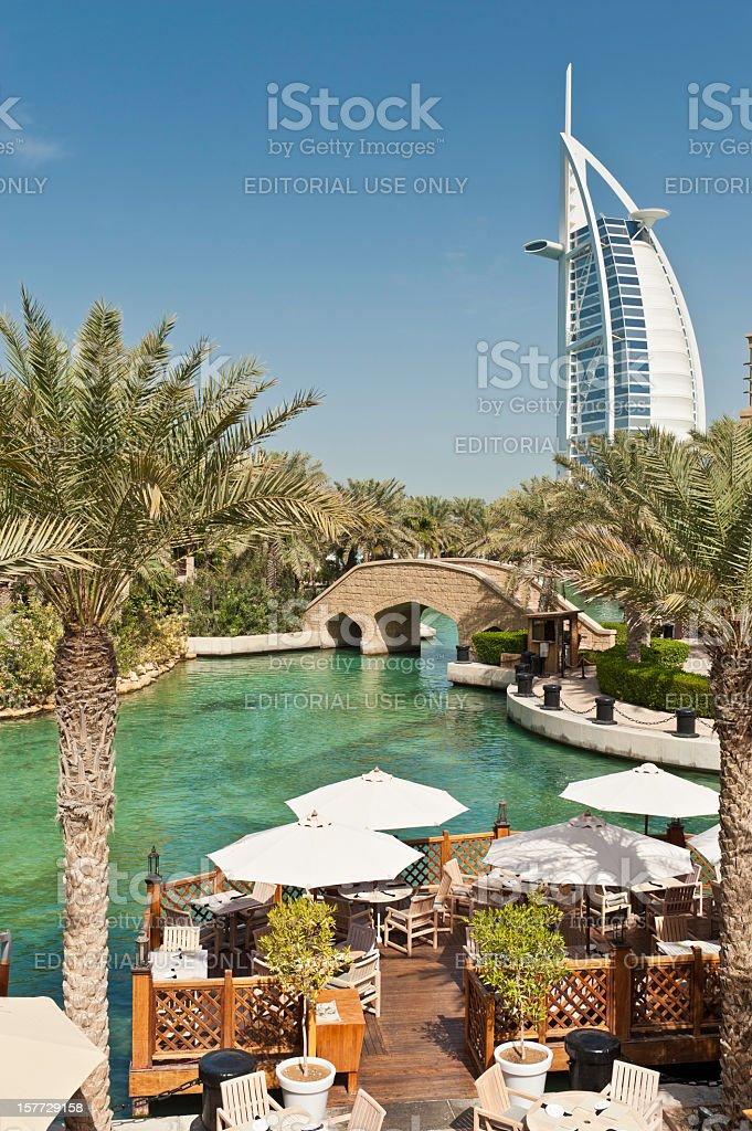 Dubai Burj Al Arab luxury hotel restaurant stock photo
