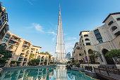 Dubai Burj Khalifa Lake Souk AL Bahar UAE