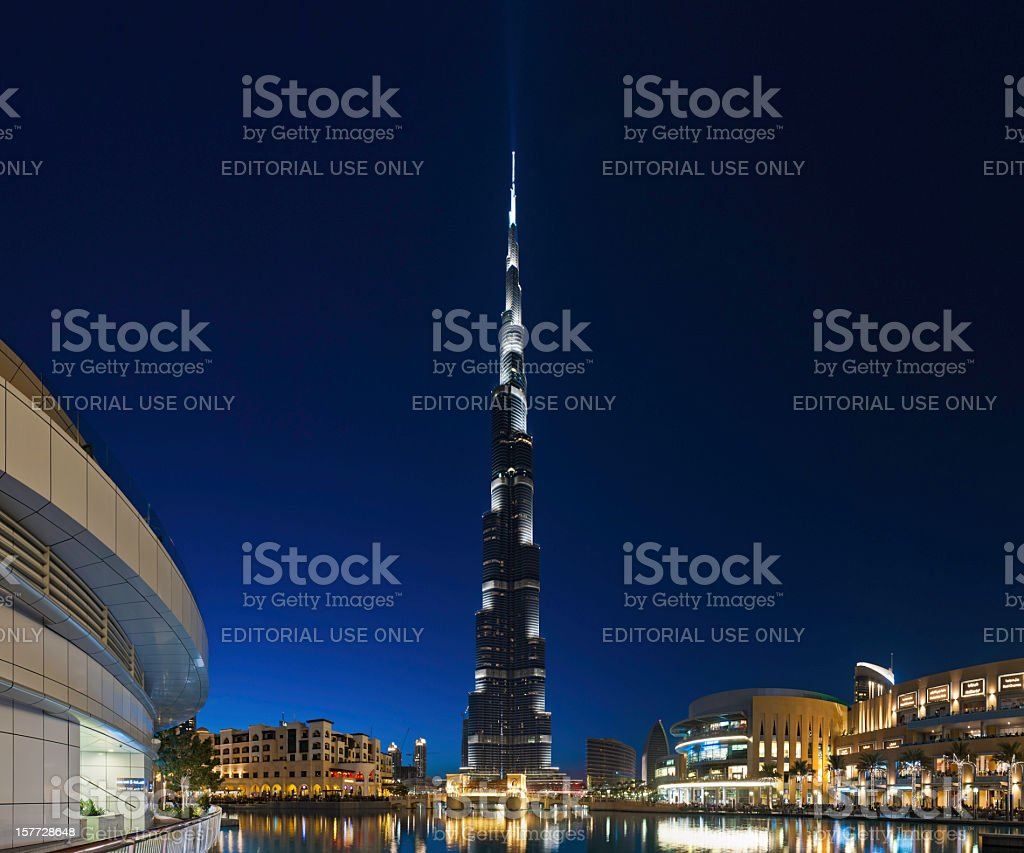 Dubai Burj Khalifa shopping malls royalty-free stock photo