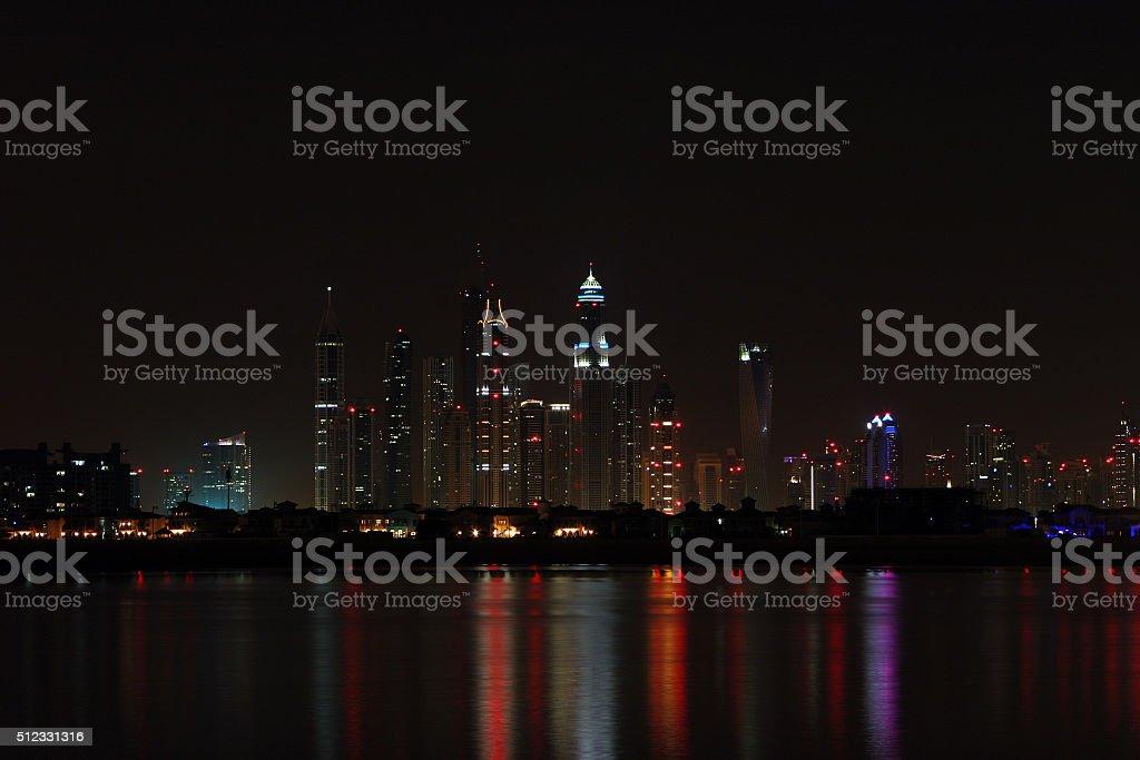 Dubai by Night stock photo