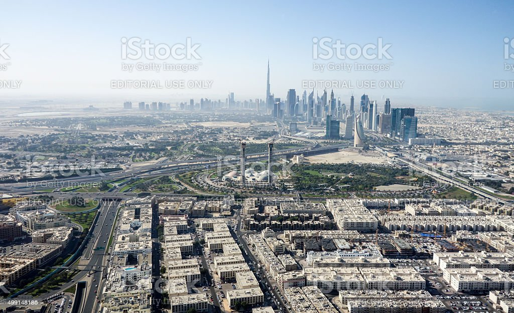 Dubai City and Surrounding stock photo