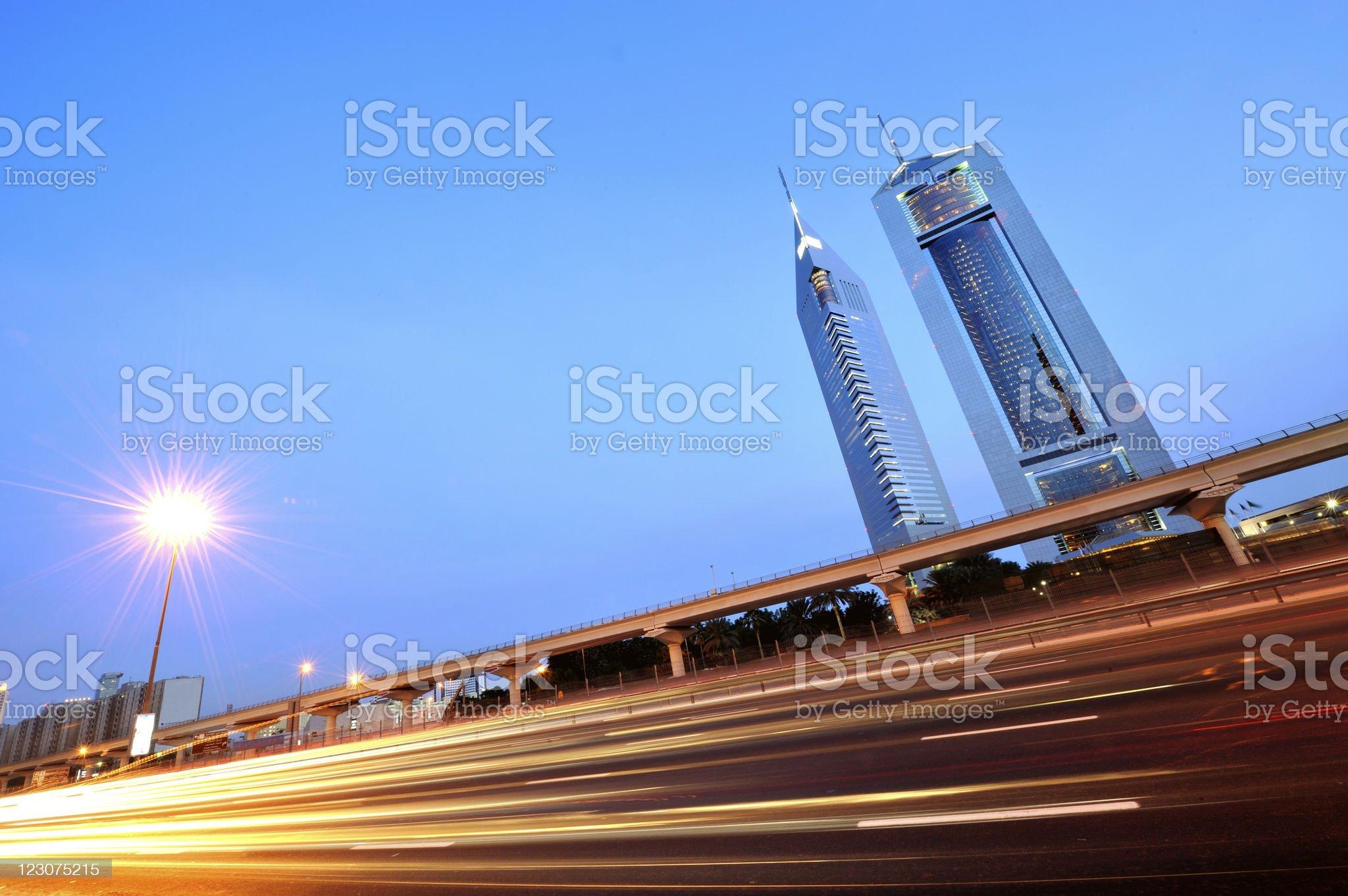 dubai city highway royalty-free stock photo