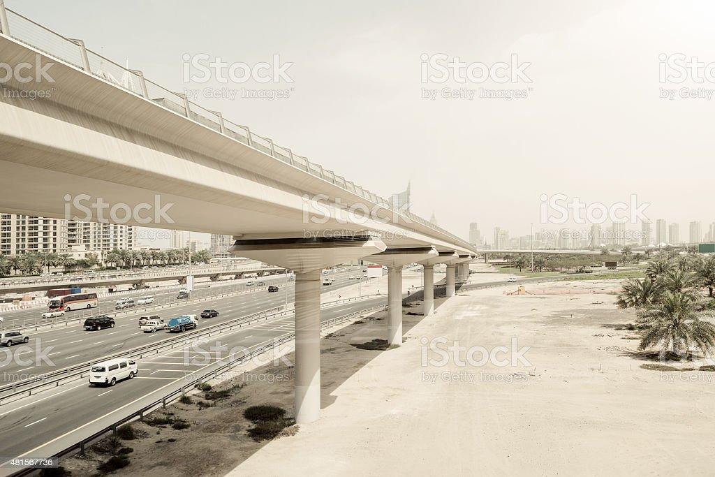 Dubai City Highway stock photo