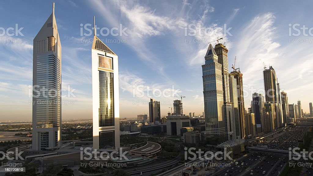 Dubai City of reflections stock photo
