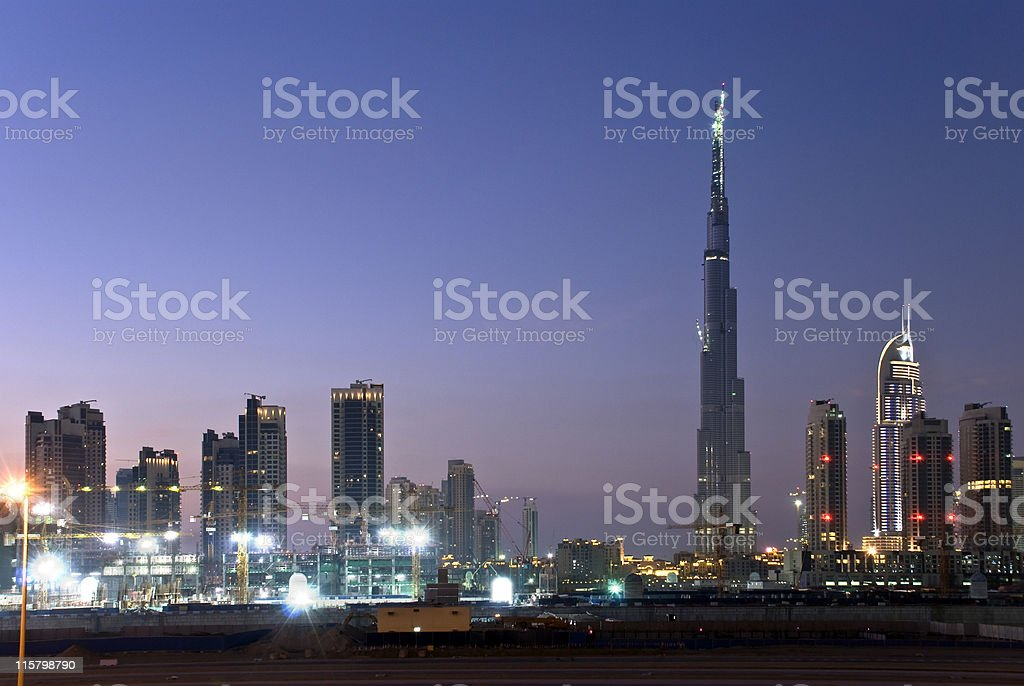Dubai city skyline royalty-free stock photo