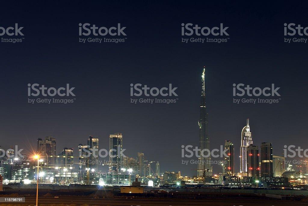 Dubai city skyline royalty-free stock photo