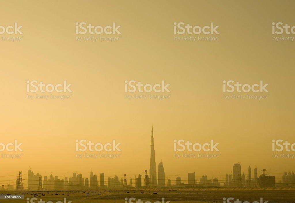 Dubai Cityscape at Sunset royalty-free stock photo