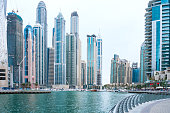 Dubai Cityscape, Marina Walk, Skycrapers, Yachts, Inlet, Apartments, Towers, Residences