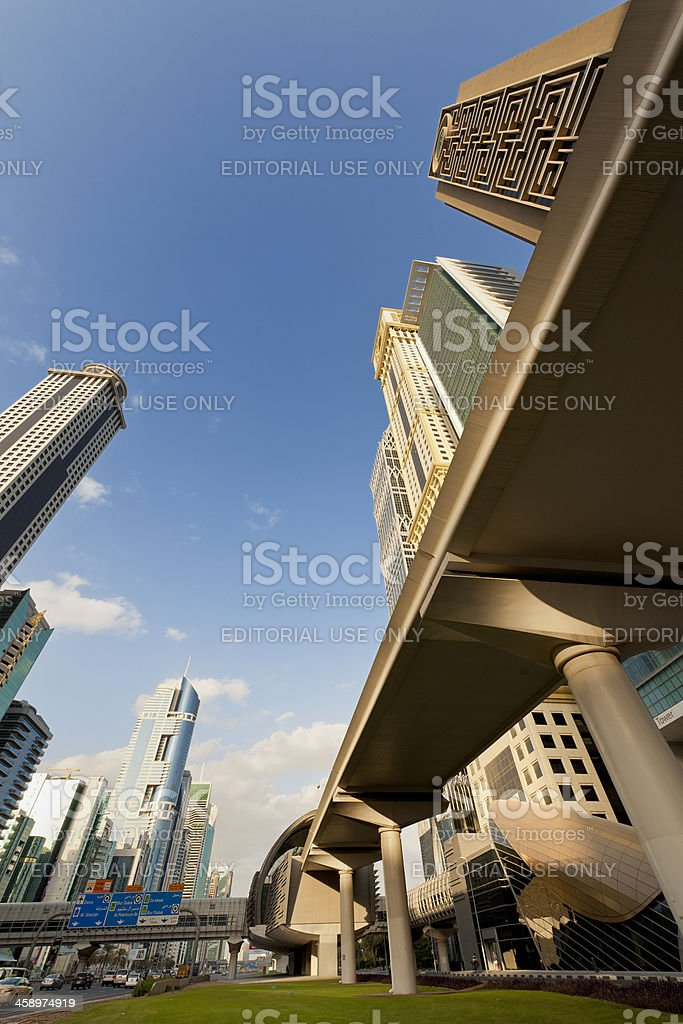 Dubai cityscape stock photo