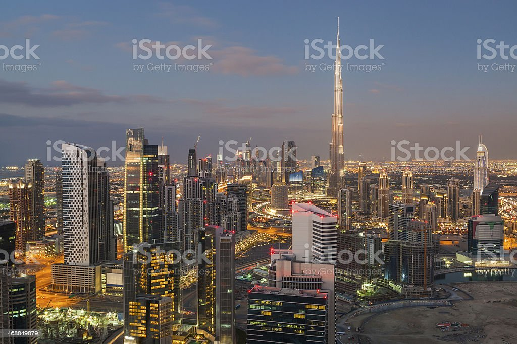Dubai Cityscape. stock photo