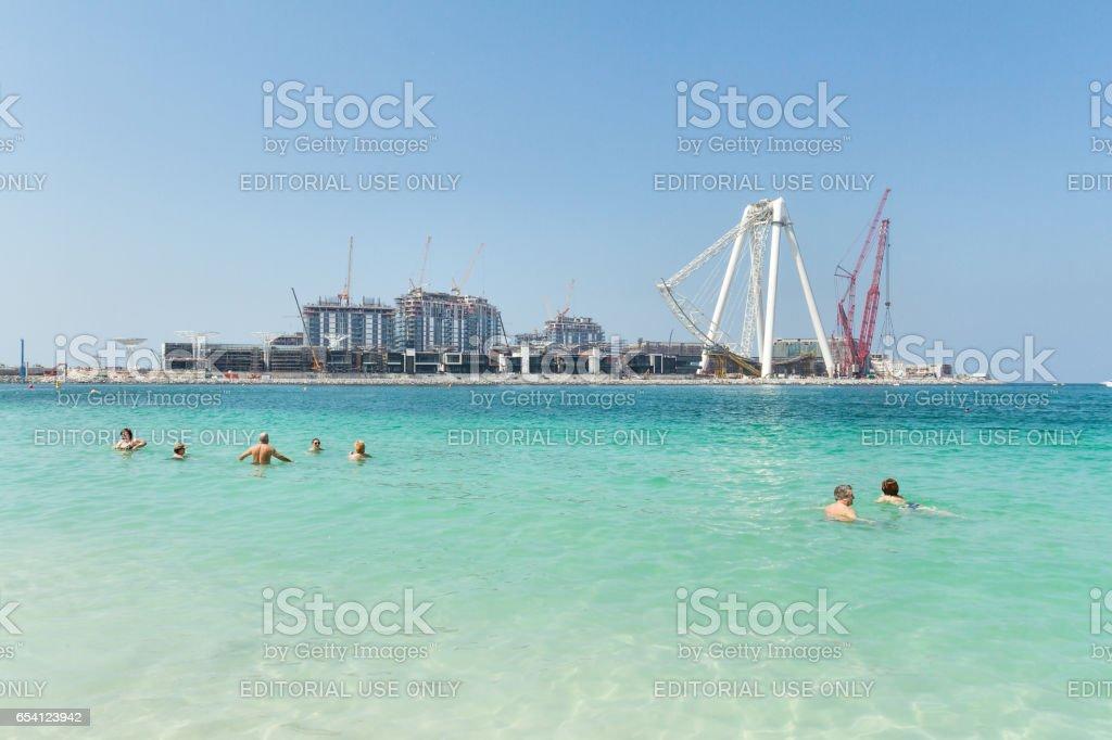 Dubai - Construction of new giant Ferris Wheel stock photo