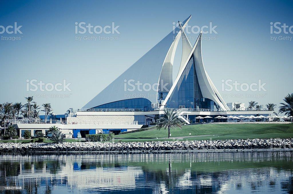 Dubai Creek Golf Club building stock photo