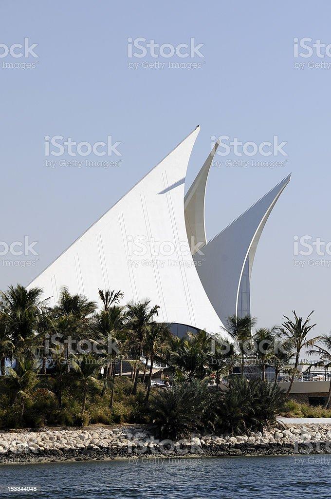 Dubai Creek, Golf Club stock photo