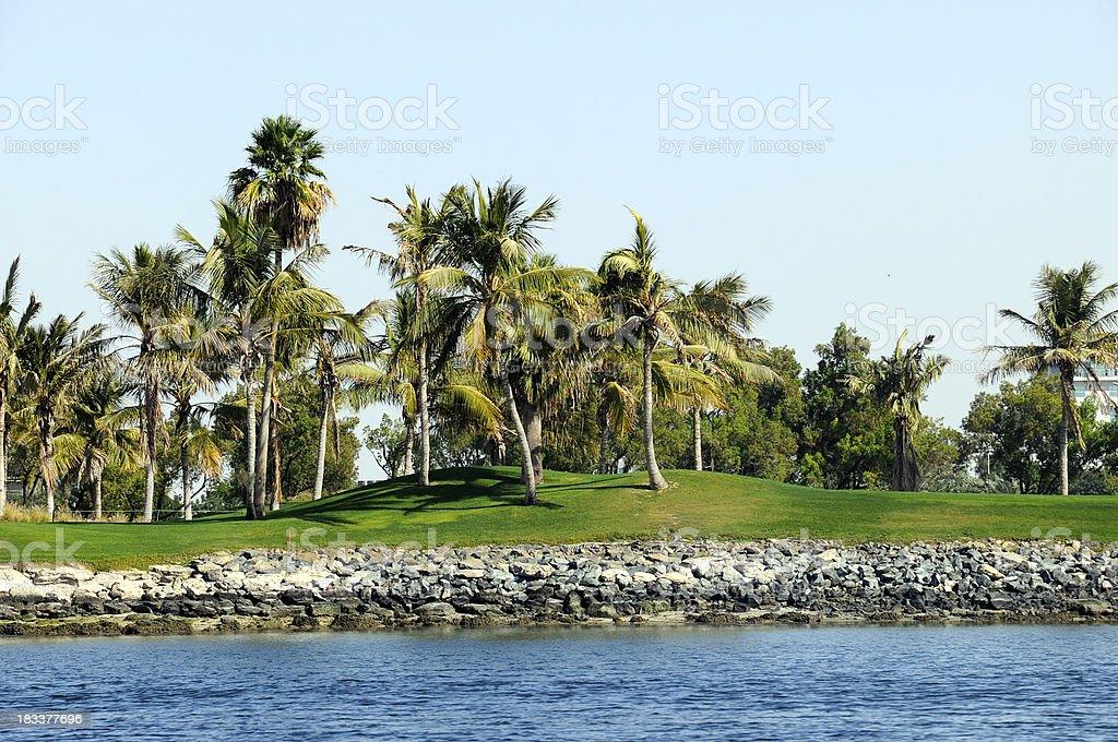 Dubai Creek Golf Club stock photo