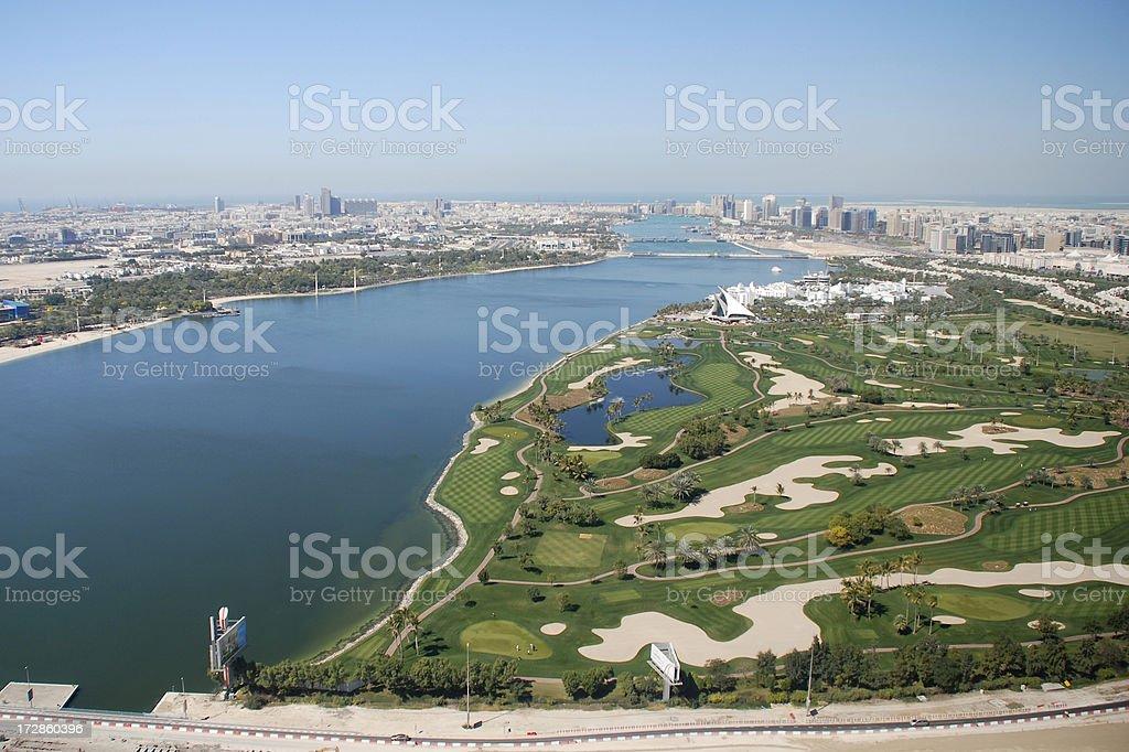 Dubai Creek Golf Course stock photo